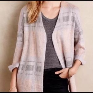 Moth Alder Abstract Cardigan Sweater Anthro Small